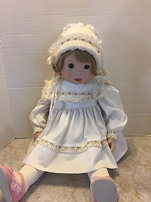 Elka Hutchens 1987 Imoco Doll Soft Body Porcelain head hands 24 inches long
