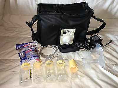 Medela Pump in Style Breastpump Double Electric + Cooler Bag Bottles Accessories