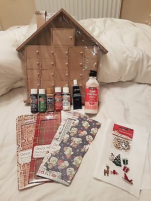 DIY House Advent Calendar with All Decorating Items