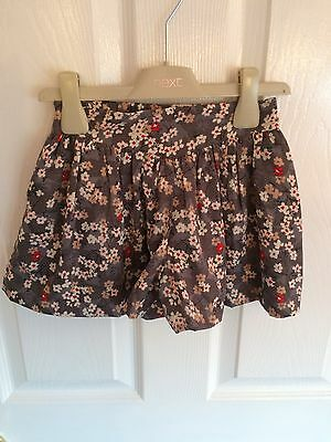 Next Girls Floral Shorts Age 2-3 Years - Excellent Condition