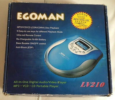 EgoMan LV210 - MP3 / CD / VCD - Portable Player - with Remote