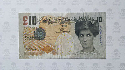 Original Banksy di-faced tenner ten pound note, rare and in mint condition