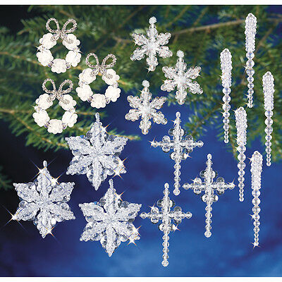 Holiday Beaded Ornament Kit Collection-Crystal Collection OCK-5724
