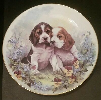 Puppy Adventures plate Ben and Bobby
