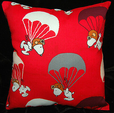 New Handmade Peanuts Snoopy Parachute Toddler/ Travel/ Car  Pillow