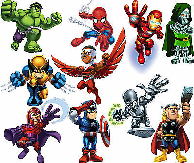 MARVEL SUPER HERO SQUAD wall stickers. Choice of 10 images, 2 sizes & discounts