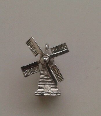 vintage sterling silver dutch house windmill charm