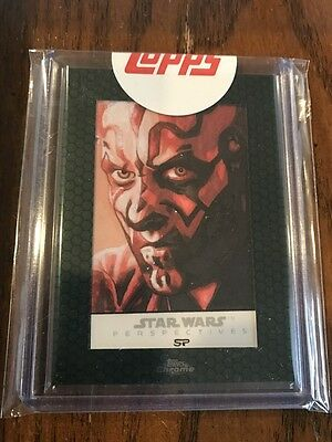 Star Wars Chrome Perspectives Sean Pence Darth Maul Sketch 1/1 SSP