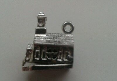 vintage stg silver charm holy church opens