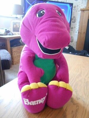 singing musical barney soft toy charcter in vgc