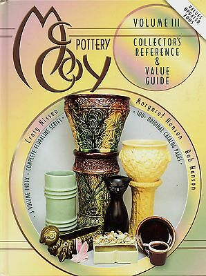McCoy Art Pottery - Marks Patterns Forms Dates / Illustrated Book + Values