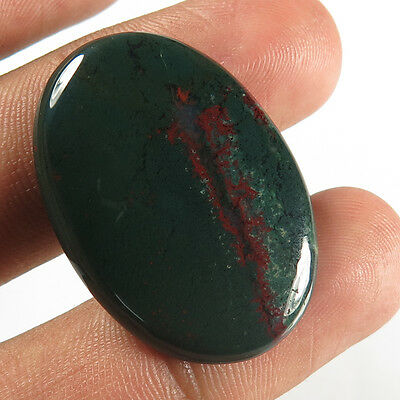 28.00 Cts. Natural BLOODSTONE Loose Gemstone Oval Cabochon 33x22 mm Manufacturer