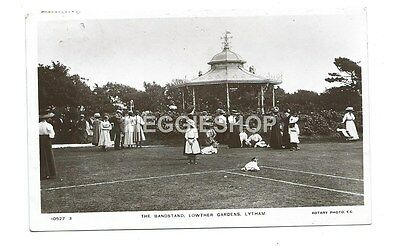 Lancashire: Lytham: The Bandstand: Lowther Gardens 1911 Real Photo Postcard