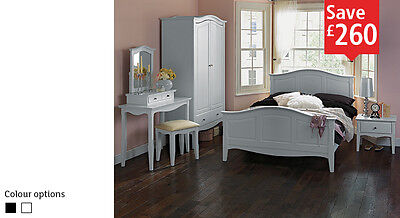 Schreiber Provence Double bed frame  White