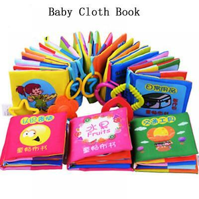 Development Teether Infant Educational Toy Cloth Book Baby Early Reading