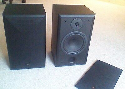 Acoustic Research Speakers AR 206 HO Black Bookshelf Excellent Condition