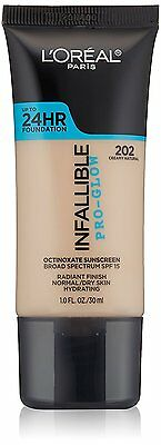 L'Oreal Paris Cosmetics Infallible Pro-Glow Foundation, Creamy Natural, 1oz