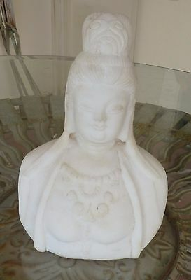 White Stone Statue (Marble?) of Chinese Quan Yin