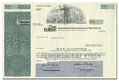 Consolidated Edison Company Stock Certificate (Eerie Vignette)