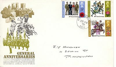 General Anniversaries 1971 First Day Cover