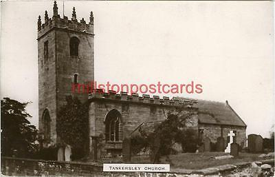 Real Photographic Postcard Of Tankersley Church, (Near Barnsley), West Yorkshire