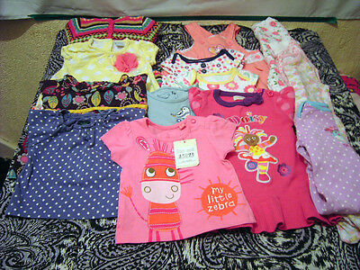 Bundle of Baby Girls Clothes 0-3 Boden M+S Upsy Daisy Disney Baby Gap
