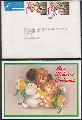 KENYA 1986 MOMBASA ☀ Cover / envelope with Christmas cards - AIR MAIL to Germany