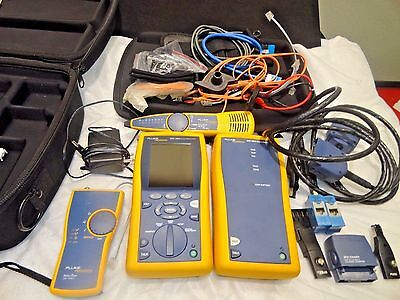 Fluke Networks DTX 1800 Cable Analyzer with lots of extras, (see remarks!)