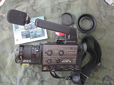 Canon 814 Xl-S Super-8 Camera Manual Microphone & Case