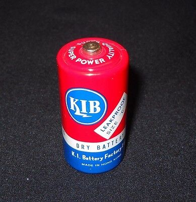 Vintage collectible KIB dry battery made in Hong Kong size C