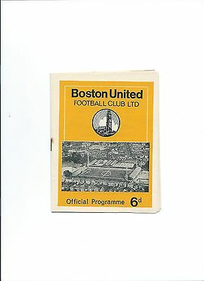 69/70 Rare Boston United v Gateshead  NPL