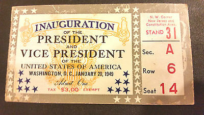 1949 Truman Inauguration Ticket