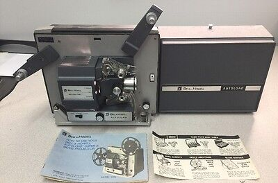 BELL & HOWELL Vintage SUPER 8 8mm AUTOLOAD Movie PROJECTOR 357B W/ Manual