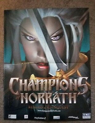 2003 Champions of Norrath Realms of Everquest 2 sided promo poster ad
