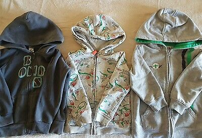 3 x boys hoodies / jumpers size 2