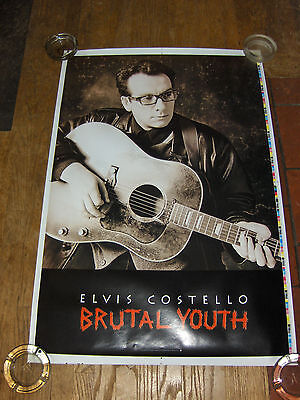 Elvis Costello Brutal Youth  Test Proof Promo Poster 1994 Rolled