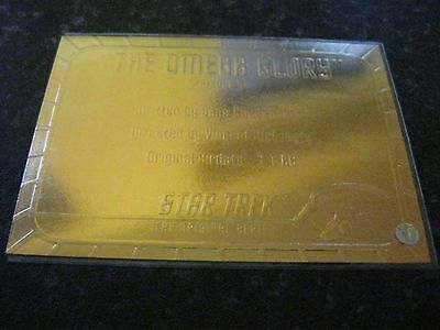 Skybox Star Trek Tos Original Series Season 1 Gold Plaque Chase Card G54 Ep54.9