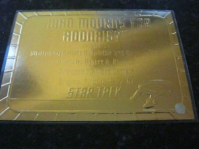 Skybox Star Trek Tos Original Series Season 1 Gold Plaque Chase Card G33 Ep33.9