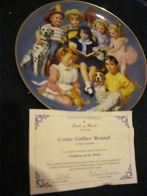 Danbury Mint Collectors Plate Come Gather Round  From Children Of The Week