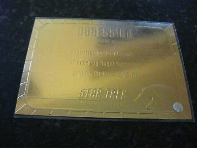 Skybox Star Trek Tos Original Series Season 1 Gold Plaque Chase Card G47 Ep47.9