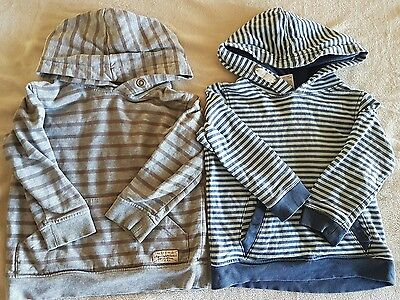 2 x boys jumpers / hoodies size 2
