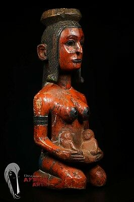 """Discover African Art: 26.75"""" Baga Maternity Statue from Guinea"""