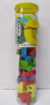 """J'adore A To Z Letters -Educational Alphabet wood block Letters Approx.1.75"""" NEW"""