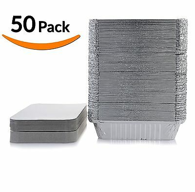 DOBI Takeout Pans - Disposable Aluminum Foil Take-out Containers with Lids St...