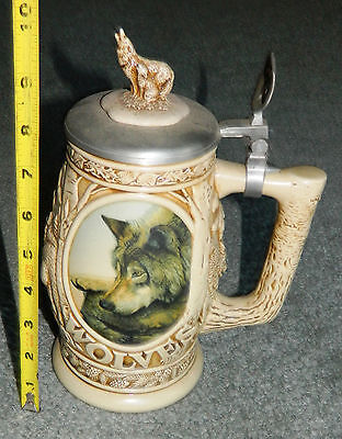 "Vintage 1997 Avon ""tribute To The North American Wolf"" Stein"