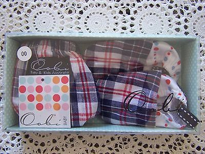 BNIB...**Oobi Boxed Set** Baby Nappy Cover & Matching Booties...Size 00......