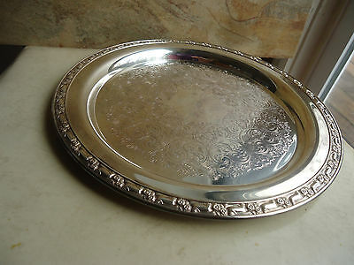 Vintage Wm. A. Rogers Oneida 12 1/2 Round Serving Tray