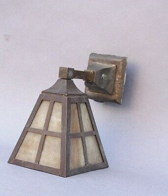 1910 Arts & Crafts Wall Light Antique Craftsman Outdoor Slag Lighting (9791)