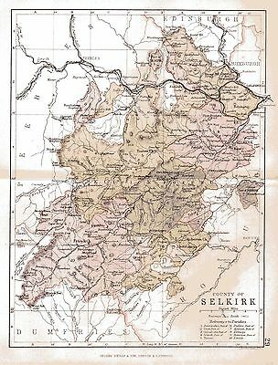 Map of the County of Selkirk, Scotland,dated 1884.