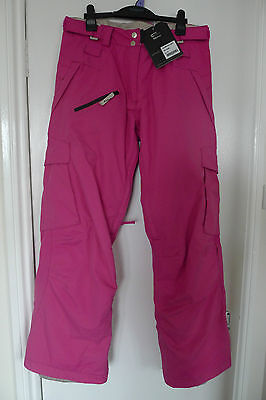 WESTBEACH Classic Insulated Snowboard Ski Snow Pants Trousers Pink Ladies Medium